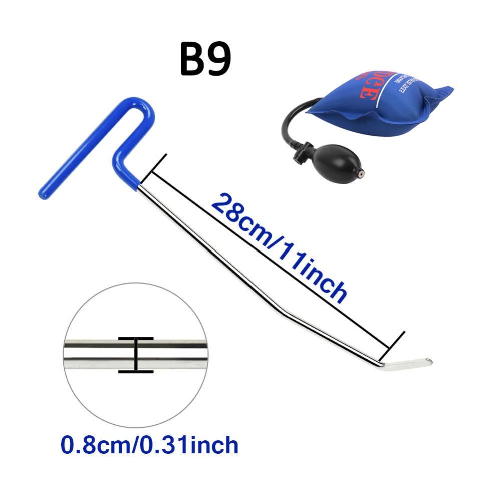 PDR werkzeuge 1 stücke blau farbe push Stangen Haken mit pum keil Auto Brecheisen auto body Dent reparatur werkzeuge