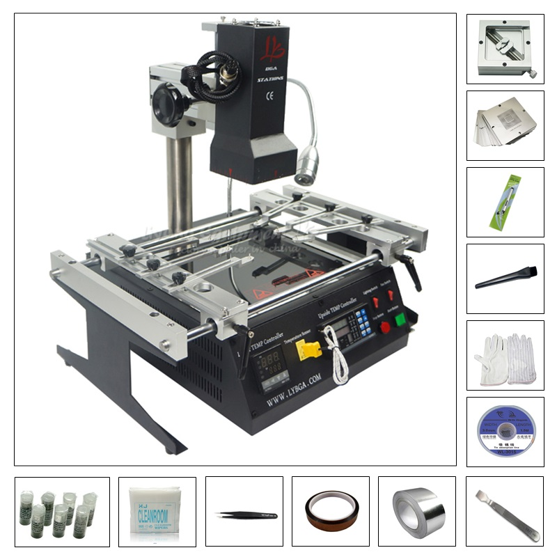 BGA reballing machine IR6500 with 80MM 90MM stencil 184pcs kit pack
