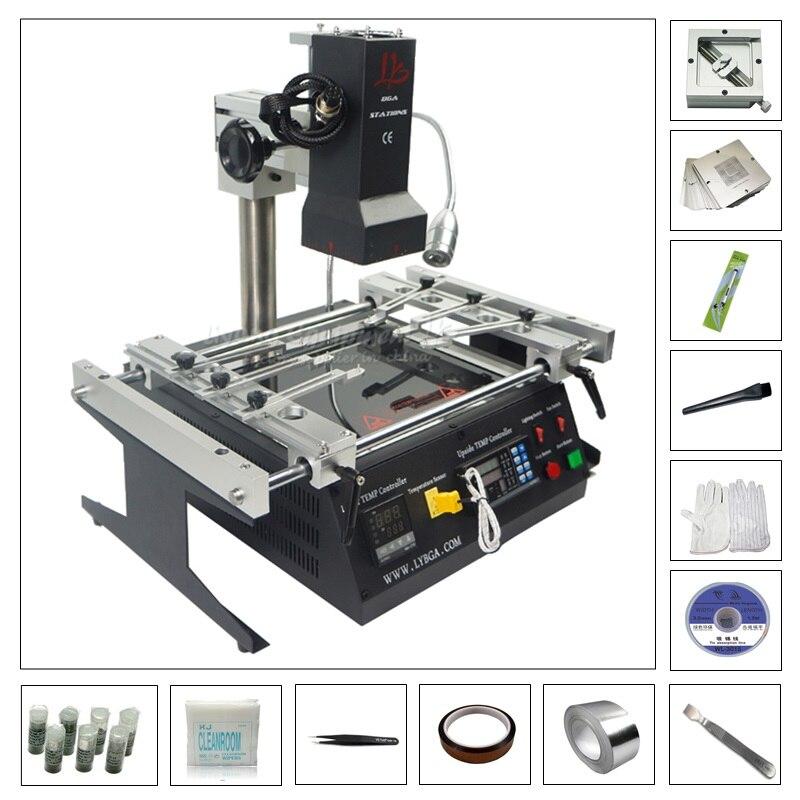 Macchina reballing BGA IR6500 con 80 MM 90 MM stencil 184 pz kit confezione