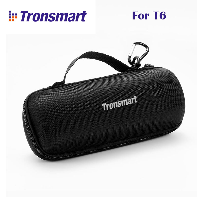 Original Tronsmart T6 Carrying Case Portable Speaker Bag With Carabiner Hocks for Tronsmart Element T6 Bluetooth Speaker Box tronsmart element t6 mini bluetooth speaker portable wireless speaker with 360 degree stereo sound for ios android xiaomi player