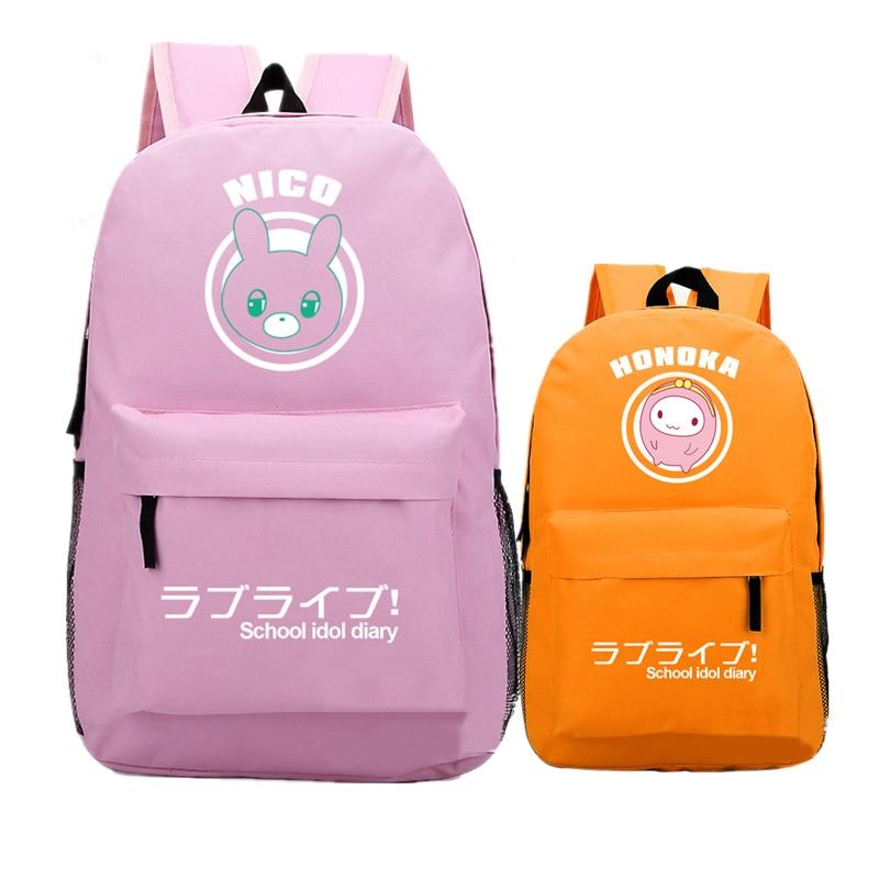 2017 Hot Japanese Anime Love Live Nico Maki Printing Canvas Backpack Mochila Feminina Women Backpacks For Teenage Girls