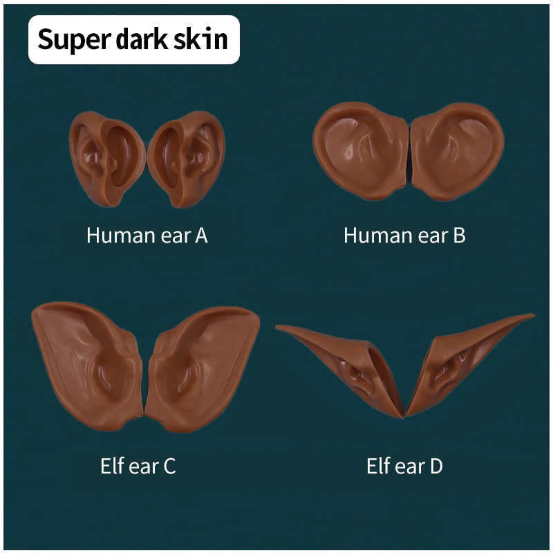 blyth doll ear Human ears,Elf ears Installed with clay, no cutting required White Skin,Tan Skin,Dark Skin,Natural Skin