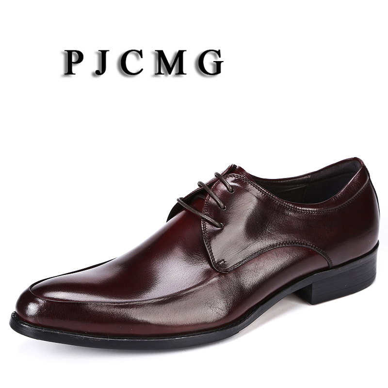 Moda Lace Chaussure Masculina Homme vermelho Apontado Dedo Genuíno Black Sapatos Sólida red up Couro Do Vestido Preto Escritório Casamento Formal Pjcmg qFEndxE