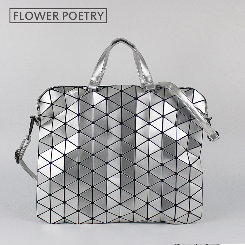 Geometric Design Fashion Bao Bao Handbag Foldable Plaid Women Shoulder Bag Quilt