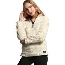 Autumn and winter warm plush shirt, women's fleece long sleeves turn-down collar top