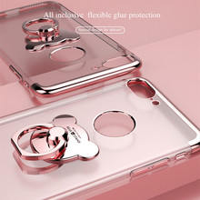 Ring grip holder Case for Apple iPhone 7 plus TPU Case Silicone Cover Clear for iPhone 6 6s Protective Skin Housing Shell Funda