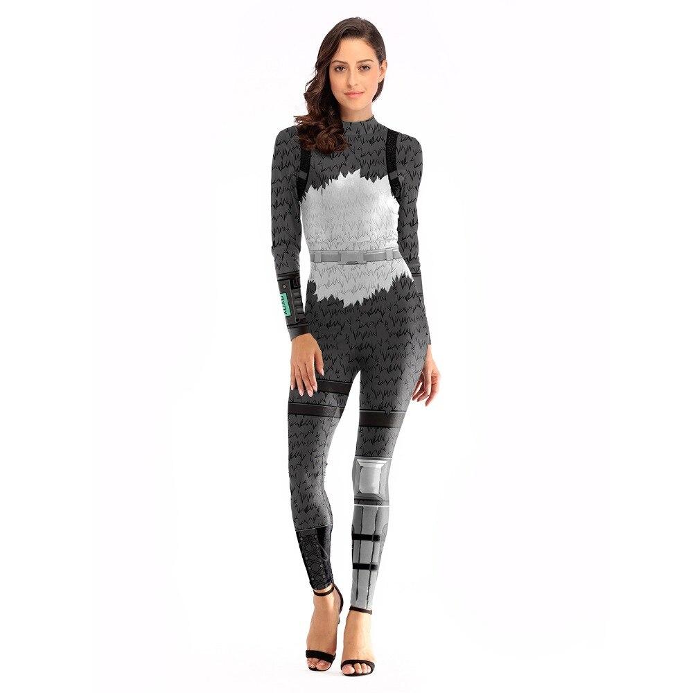 Fashion sexy Women sportswear skeleton Cosplay Costume Merry Marauder Ginger Gunner Zentai Bodysuit Suit Jumpsuits Halloween