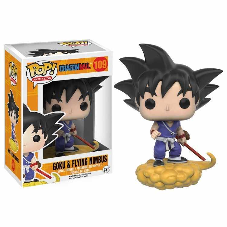 Funko pop Dragon Ball Z -Goku & FLYING NIMBUS pop animation Action Figure Collection Model Toy for the children birthday gift