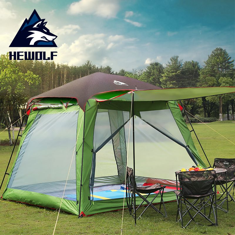 Hewolf 5-8 Person 2 Layer Party Family Hiking Travel Car Self Driving Park Beach Fishing Rain Proof Beach Outdoor Camping TentHewolf 5-8 Person 2 Layer Party Family Hiking Travel Car Self Driving Park Beach Fishing Rain Proof Beach Outdoor Camping Tent