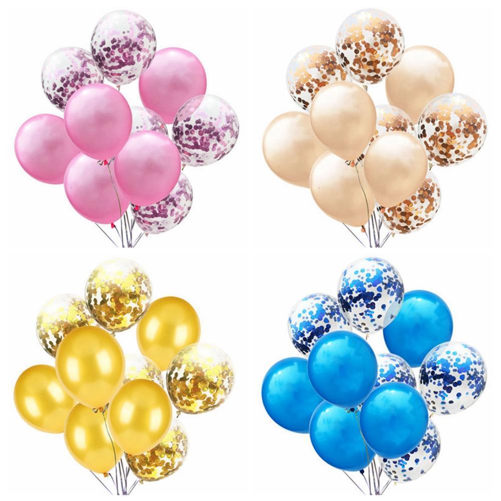 LAPHIL 10 pcs Multi Confetti Ballonnen Happy Birthday Party Decoraties Kids Blauw Roze Jongen Meisje Baby Shower Benodigdheden Geslacht Onthullen 5
