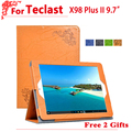high quality PU case For Teclast X98 Plus II/2 Protective Flip Cover Case PU Leather Case For Teclast X98 Plus II + free 2 gifts