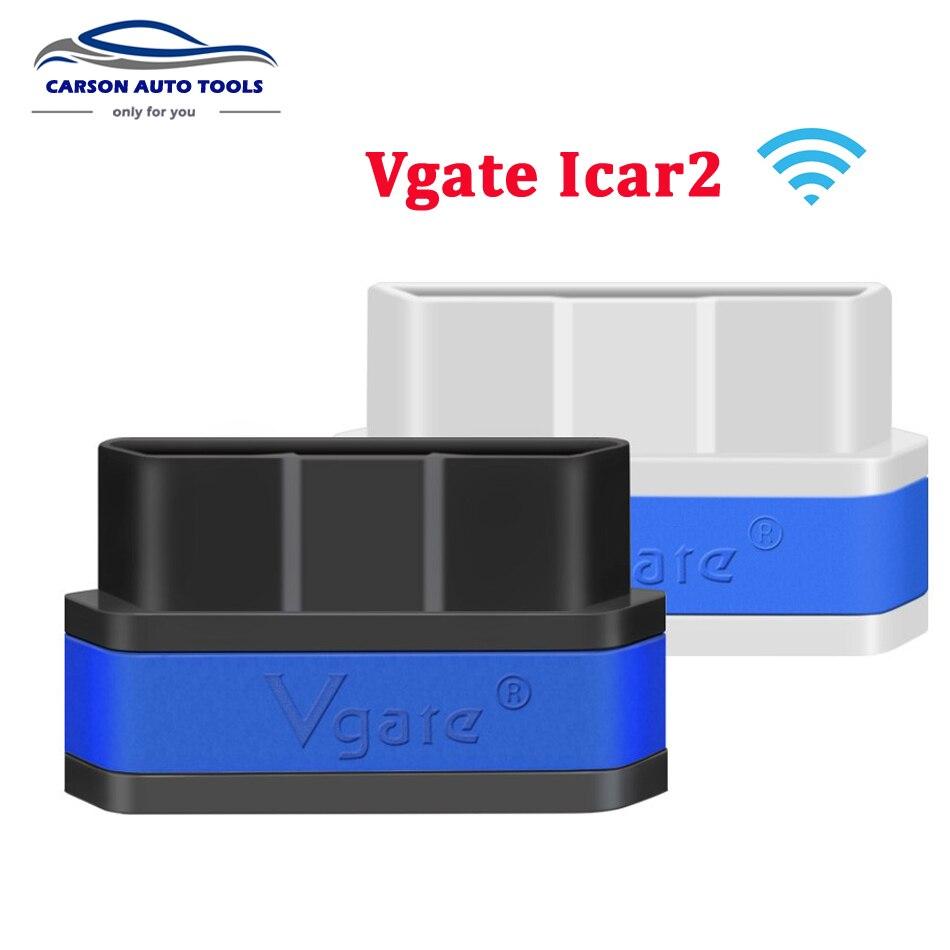 Prix pour Vgate iCar2 ELM327 V2.1 OBD OBD2 WIFI Bluetooth Scanner Outil De Diagnostic WI-FI adaptateur ELM 327 V 2.1 OBDII iCar 2 II WI FI Scan
