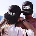 Новые Прибытия Король Королева Snapback Крышка Мужчины Женщины Бейсбол крышка Спорт Хип-Хоп Шляпа Пара Hat Вышивка Snapback Hat оптовая