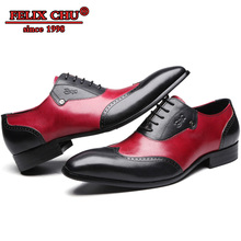 Handmade Men Leather Shoes High Quality Italian Design Wing Tip Lace up Pointed Toe Wedding Dress Oxford Shoes Men