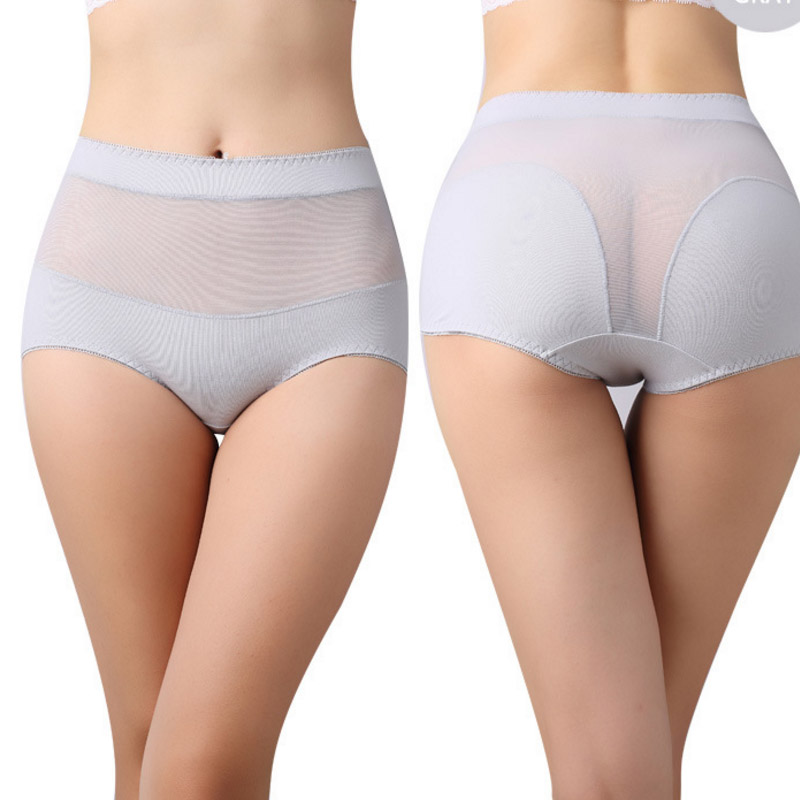 1 Pack=3 Pieces Womens cotton briefs hollow out high waist panties cotton underwear girl underpants lingerie