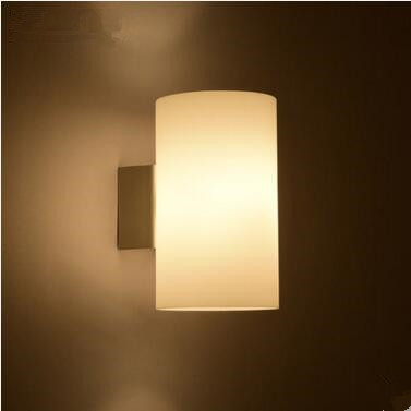 Modern White Wall Sconces : ?White Glass Modern LED Wall ? Lights Lights Fixtures For Home ? Bedroom Bedroom Beside Wall ...