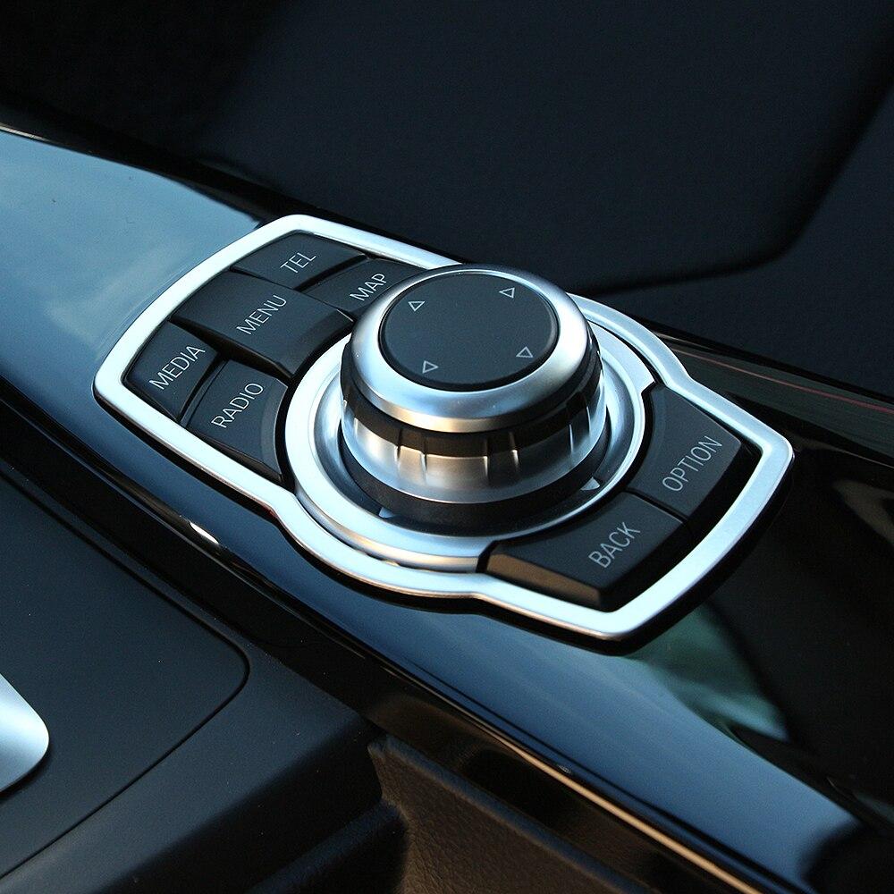 VCiiC из нержавеющей стали, внутренние Мультимедийные кнопки, крышка, автомобильные аксессуары для BMW X1 X3 X5 X6 F20 F01 F30 F15 F34 F31