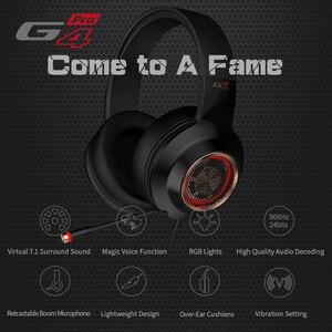 Image 2 - EDIFIER G4 Pro USB Gaming Headset mit Virtuelle 7,1 Surround Sound RGB Lichter Magische Stimme Funktion Versenkbare Boom Mikrofon