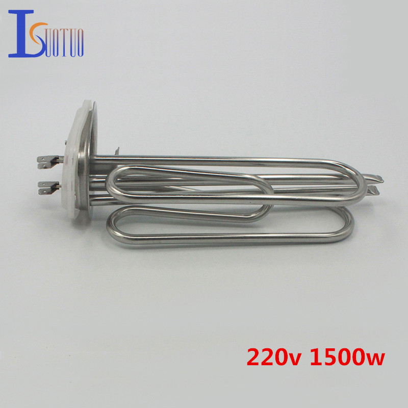 70mm*100mm cap 220v 1500w Haier electric water heater tube heating element boiler stainless steel parts ac380v 6kw 6p terminals water boiler heating element 3u tube heater