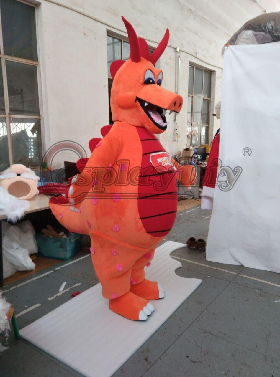 CosplayDiy mascotte Costume monstre Curry Dragon dessin animé mascotte unisexe Halloween fête de noël Costumes mascotte sur mesure - 4