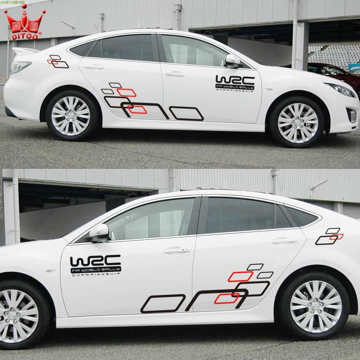 Cool wrc style sportive the whole car design stickers and