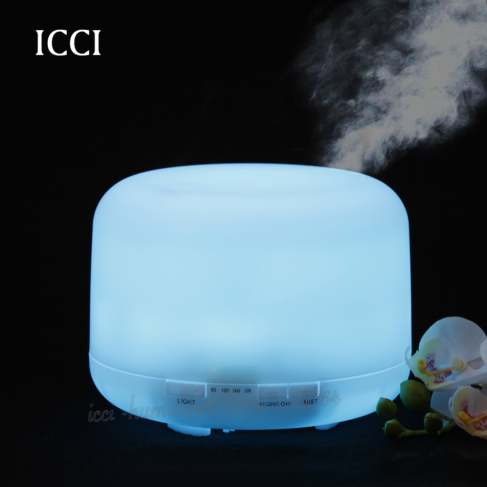Humidifier, Essential oil diffuser Aroma Diffuser, Aroma humidifier  Ultrasonic  Household  PP material  capacity 500ml diffuser jjcfc2w
