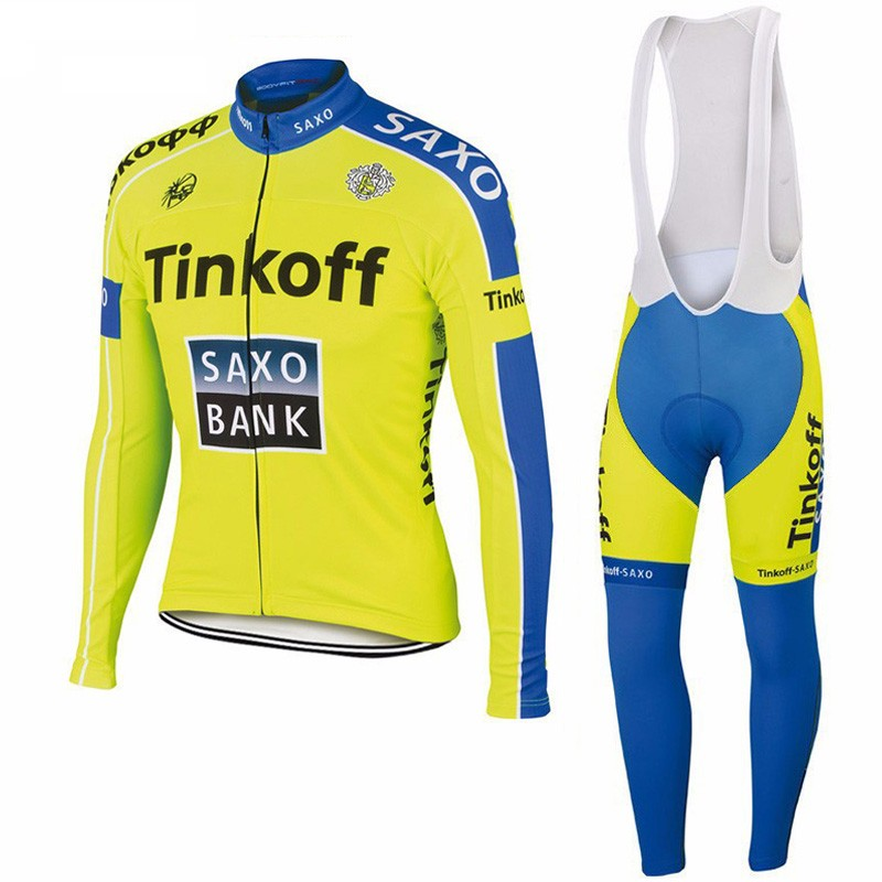 d5d1182c2 2016 Tinkoff Saxo Winter Thermal Fleece Pro Team Long Sleeve Cycling Jersey Ropa  De Maillot Ciclismo Invierno Mtb Biking Clothes-in Cycling Jerseys from ...
