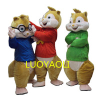 2014 Hot Sale ! New Alvin and the Chipmunks Mascot Costume Alvin Mascot Costume Free Shipping