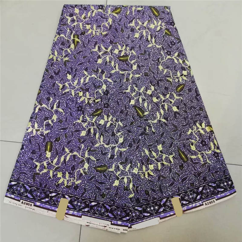 Mosaic gold wax print fabric african fabric Holland wholesale price african wax print 6yard lot P91062