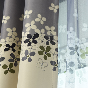 Grey and Cream Floral Print Mo