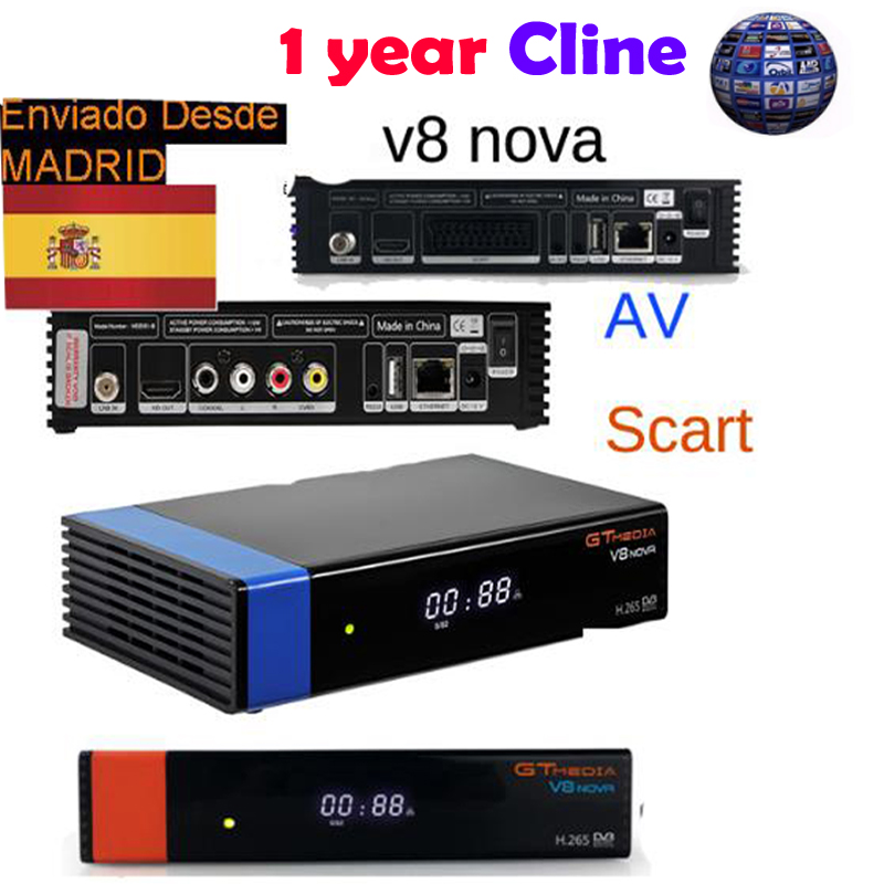 GTMEDIA V8 NOVA Blu/orange 1 anno europa ccam ricevitore Satellitare Dvb S2 SUPPORTO Built-In Wifi ETHERNET Interruttore di alimentazione di vu biss c * am v20