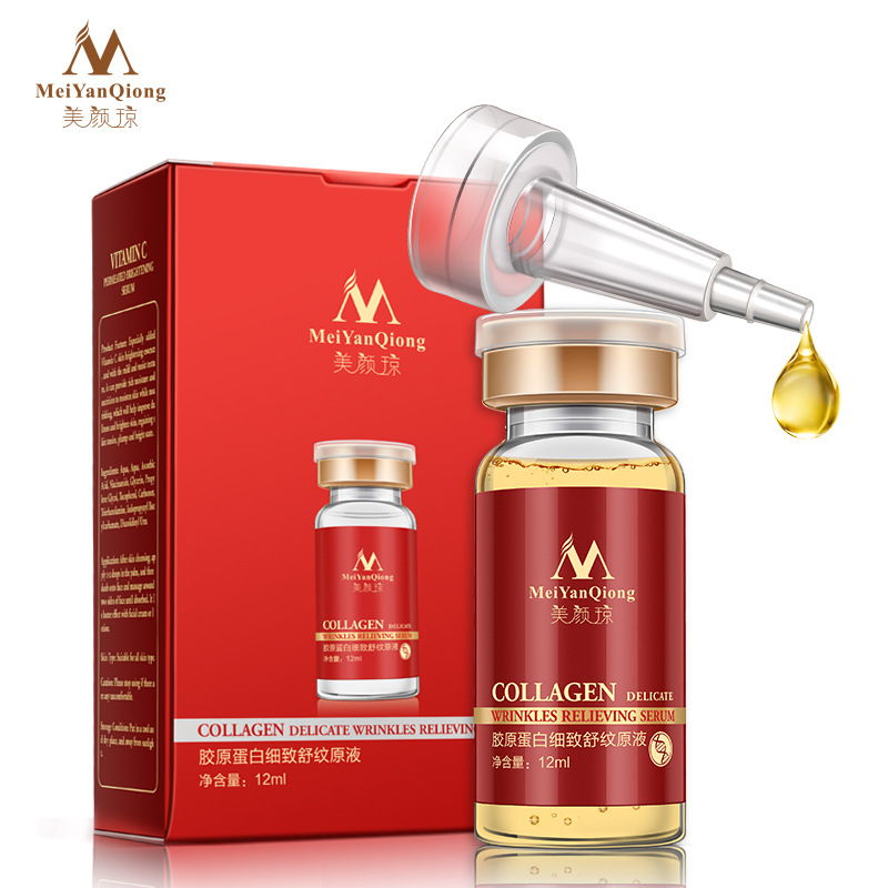 MeiYanqiong Kollagen Liquid Serum Face Whitening Cream Face Moisturizing Serum Facial Anti-rynke Hudpleie Firming Brighten