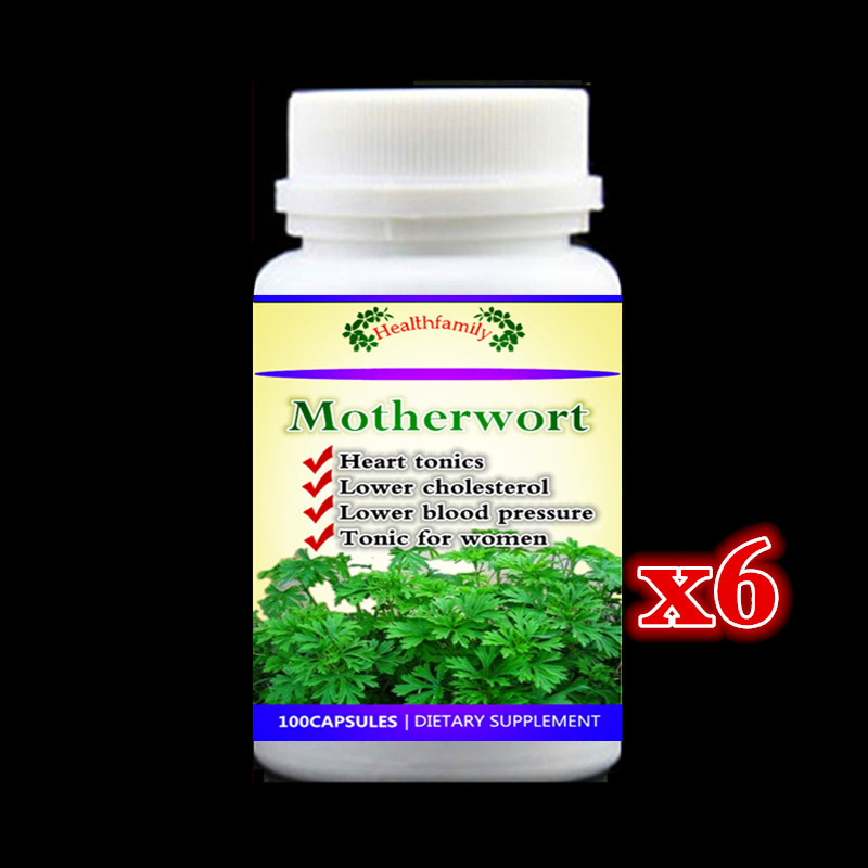 Heart tonic Motherwort PE. yi-mu-cao supplement Tonic for women promote longevity and strengthen the heart - 600pieces 6 bottles saw palmetto supplement for prostate health promote healthy urination frequency