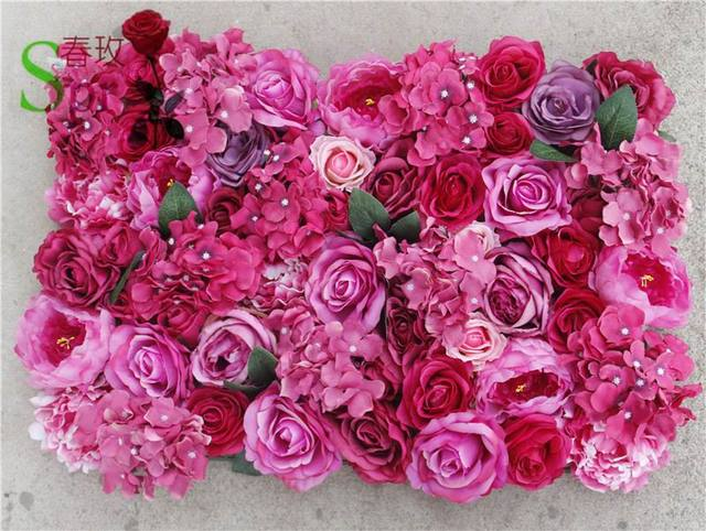 SPR Free Shipping mix color Artificial silk rose flower wall wedding background lawn/pillar flower home market decoration