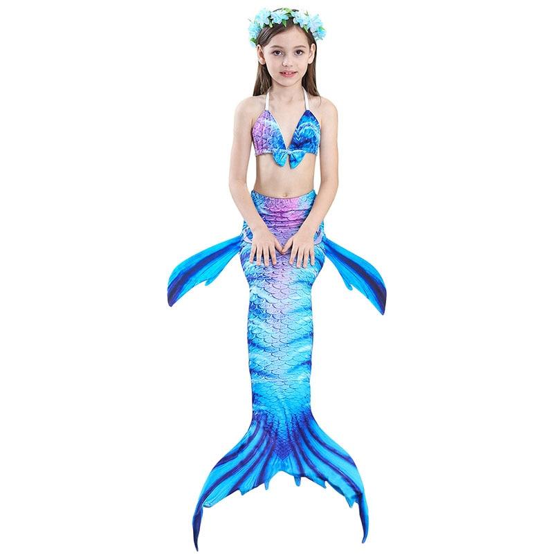 girls mermaid tail swimwear 1-2