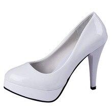 ร้อนขายรองเท้าส้นสูงสตรีชุดเจ้าสาวเซ็กซี่รองเท้าส้นสูงแพลตฟอร์มเซ็กซี่ส้นกริชปั๊มS Apatos #7fhf-1