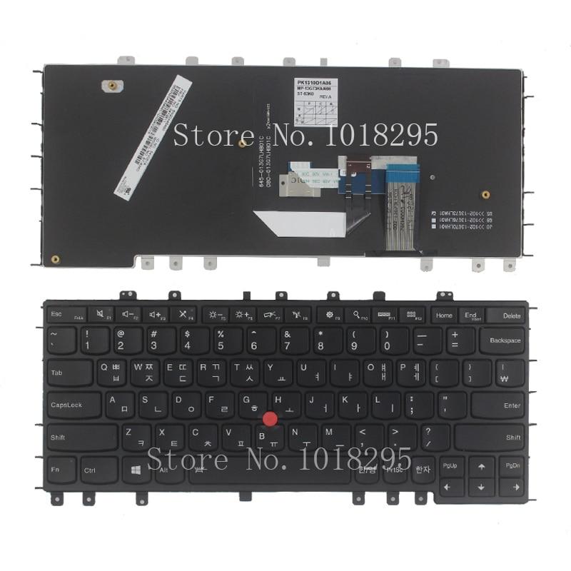 New KR For Thankpad Lenovo S1 YOGA 12 Korean Laptop Keyboard black new origianl for lenovo yoga 11s us keyboard