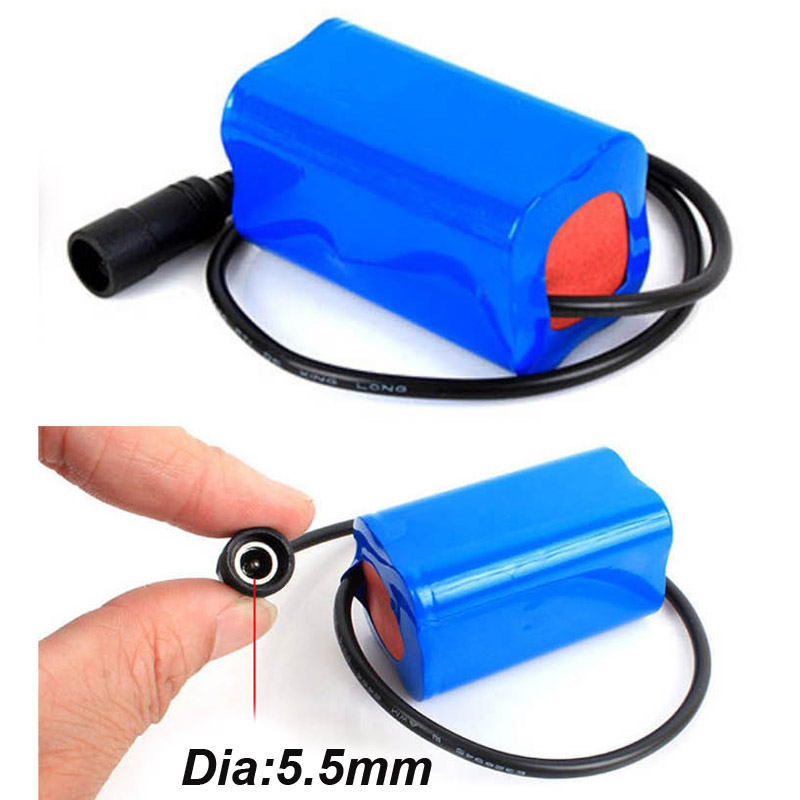 US <font><b>4400mah</b></font> 8.4V <font><b>7.4v</b></font> 18650 Rechargeable Li-ion <font><b>Battery</b></font> pack lithium ion cell for LED fishing flashlight torch headlight image