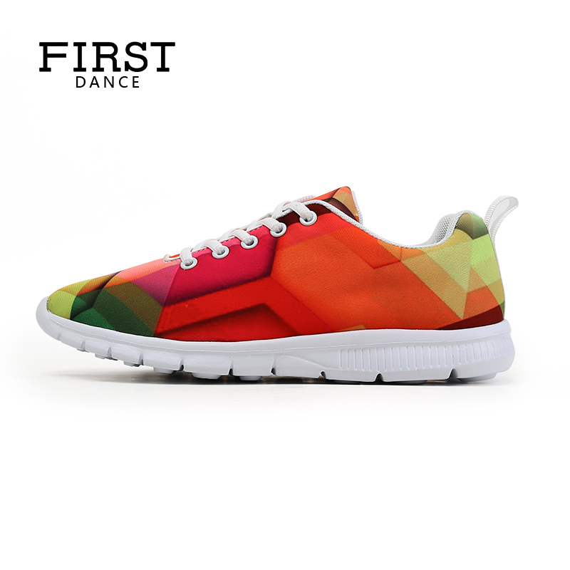 FIRST DANCE Women Girls Flats Shoes Casual Lace up Female Leisure Customized 3D Prints Shoes Women