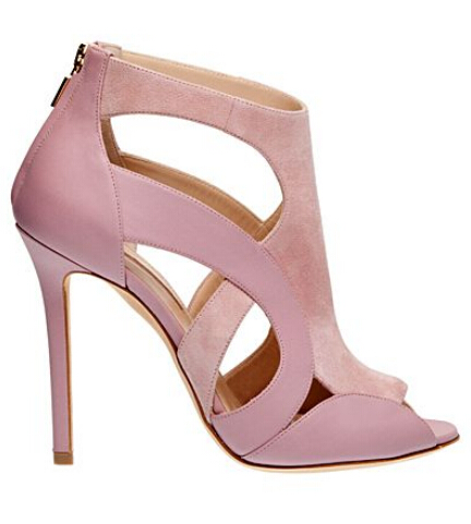 цена на Cute pink peep toe hollow out summer sandals fashion plus size 42 women high heel sandal wedding party dress shoes woman sandal
