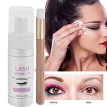 50ml Professional Eye Lashes Foam Cleaner Individual Eyelash Extension Cleanser shampoo Eyelashes Foaming Mild Makeup Remover