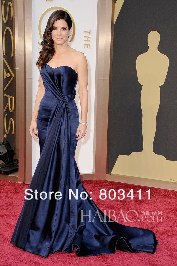 Louise Roe Green One Shoulder Evening Dress 2017 Oscar Awards Red Carpet