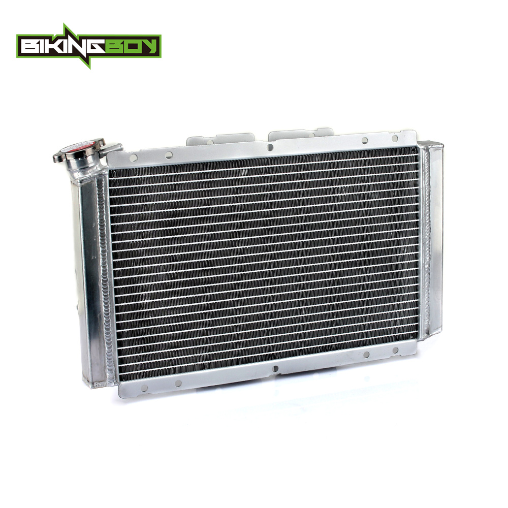 BIKINGBOY Aluminium Core Motorcycle ATV Quad Dirt Bike Engine Radiator Cooling Cooler for YAMAHA Rhino 450 06-09 Rhino 660 04-07 купить