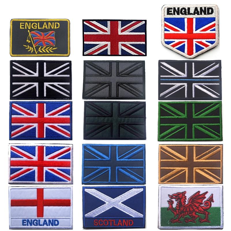 United Kingdom England Scotland Wales Flag Embroidery