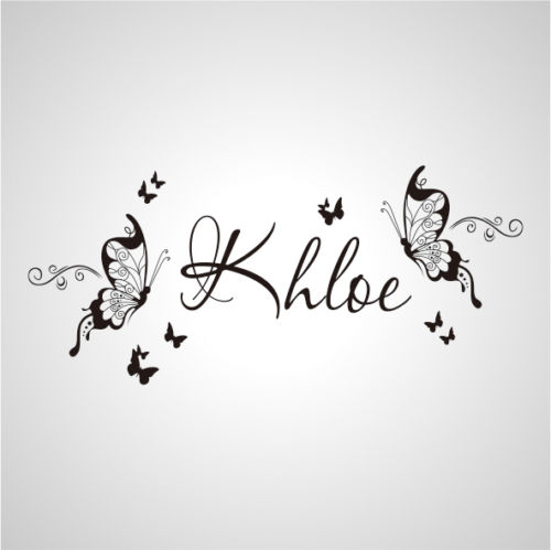 D Wall Stickers Custom Name Large Butterfly Decal Decor Nursery - Custom name vinyl wall decals   how to remove