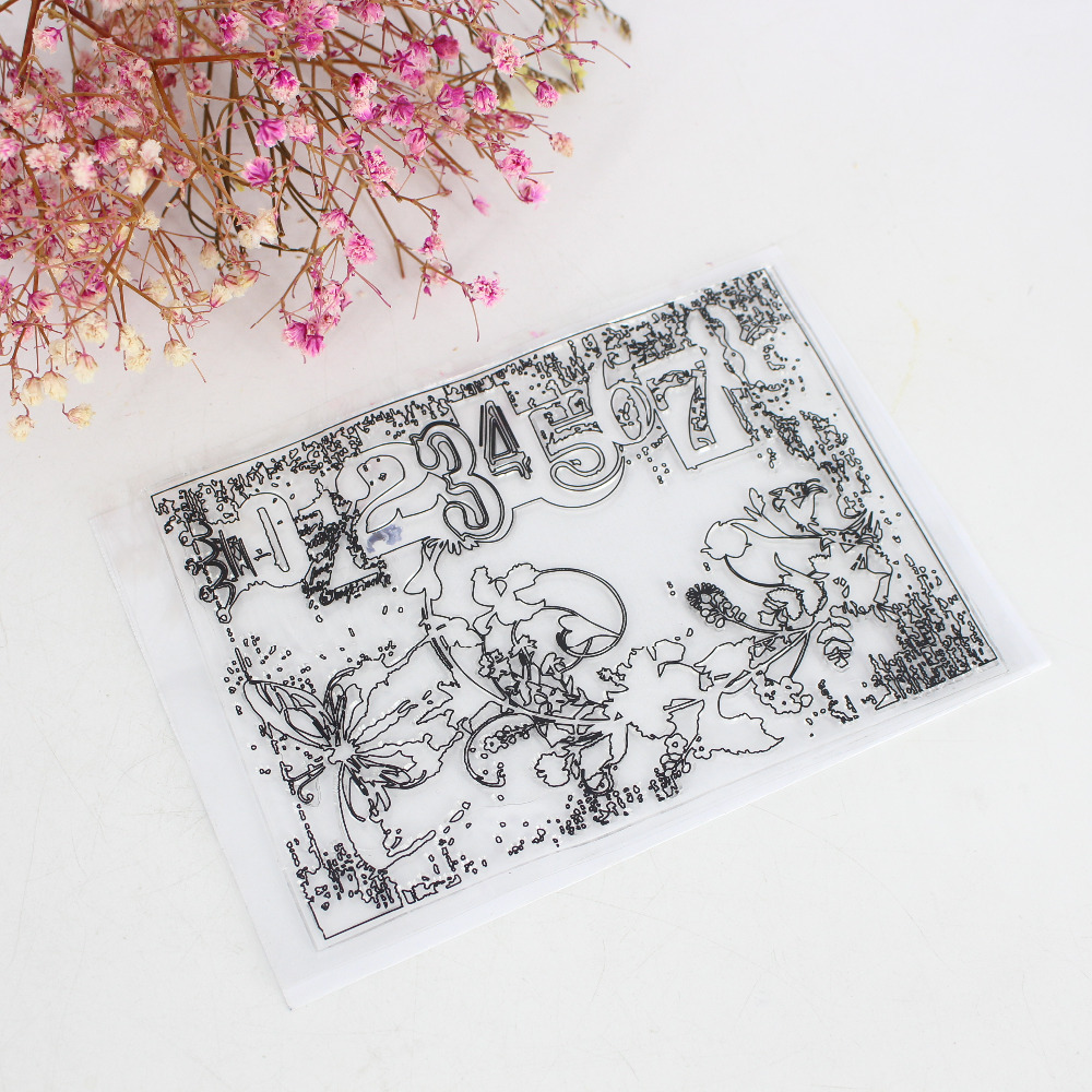Cute New Design Number Background Scrapbook DIY Photo Cards Account Rubber Stamp Clear Stamp Transparent Handmade Card Stamp