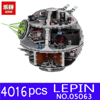 Genuine Star War Force Waken UCS Death Star Model LEPIN 05063 4016pcs Educational Building Blocks Bricks