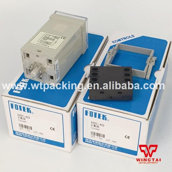 4 Digits Taiwan Original Fotek Digital electronics Counter H5C-4D  цены