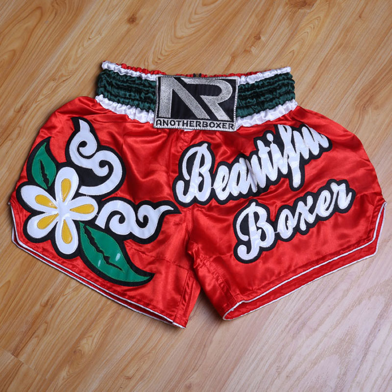Bordado muay thai boxing shorts muaythai troncos