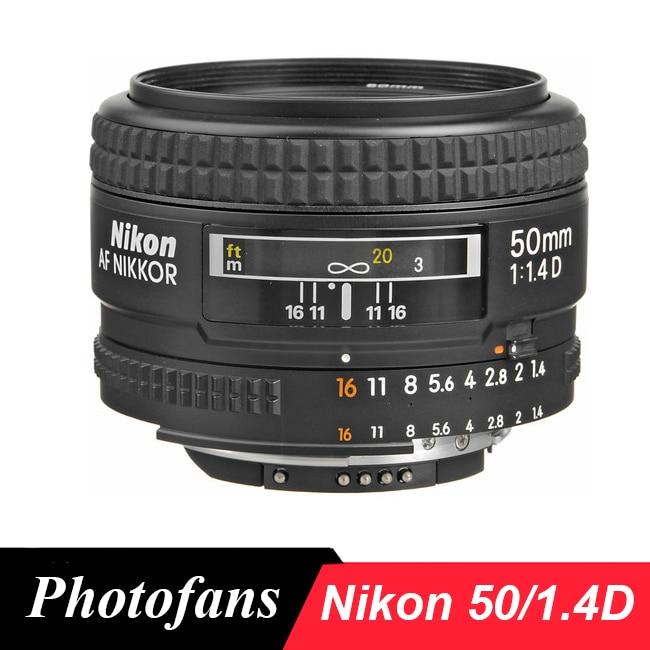 Nikon 50 1.4D Lenses AF NIKKOR 50mm f/1.4D Lens for Nikon D90 D7000 D7100 D7200 D300 D610 D700 D750 D800 D810 D3 D4 D5 godox mini speedlite tt350n camera flash ttl hss 2x 2500mah battery for nikon d810a d810 d800 d750 d700 d610 d300 d5 d4 d3 d2